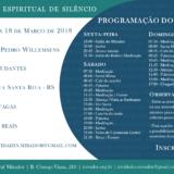 Retiro espiritual – estudantes (16 a 18 de março)