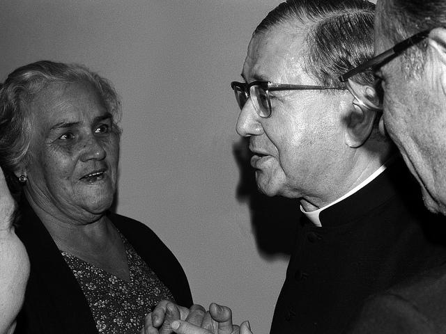 São Josemaria Escrivá, fundador do Opus Dei, na sua visita ao Brasil