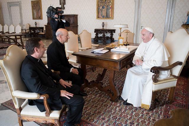 Papa Francisco e Dom Fernando Ocáriz, Prelado do Opus Dei